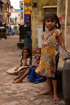 sheisfromindia:    Girls in the Street by dvandegriend on Flickr.