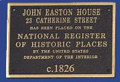 Bronze National Register Custom Plaque for John Easton House - cast bronze plaque by Erie Landmark Company a division of Paul W. Zimmerman Foundries celebrating 75 years of plaques!   Find us on the web at www.erielandmark.com or place an order at info@erielandmark.com.