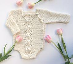 Crochet Patterns Onesie Ravelry: Snowdrop Wrap Onesie pattern by Anne Dresow Knitting Blogs, Knitting For Kids, Baby Knitting Patterns, Crochet Patterns, Baby Boy Outfits, Kids Outfits, Onesie Pattern, Pull Bebe, Diy Bebe
