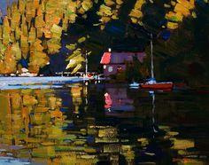 Morning Light, by Min Ma  http://www.bestlandscapepaintings.com/