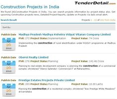 Construction Tenders 2017 Online, #TenderDetail provide access for all latest and updated construction tenders, #government construction tenders, e-tenders of #construction in India.
