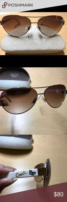 63f13ed068 Spotted while shopping on Poshmark  Coach Aviator Sunglasses!