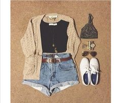 This a cute outfit and with some white keds -cute