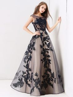 Beautiful Dresses - Chic Beautiful Navy Blue Prom Dresses 2019 A Line Princess Scoop Neck Lace Sequins Sleeveless Backless Floor Length Long Formal Grad Dresses Long, Navy Blue Prom Dresses, Evening Dresses With Sleeves, Formal Dresses For Teens, Frocks For Teenager, Party Frock Designs, Beautiful Party Dresses, Party Frocks, Wedding Party Dresses