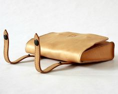 Handmade POUCH for belt or bycicle in COGNAC full grain vegetable tanned cowhide LEATHER made in Italy!  The pocuh is a very comfortable accessory, special for people who want an alternative to traditional fanny packs.  It is original and elegant for ever