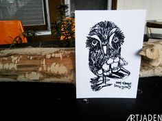 Owl prints for sale on my etsy...  by ARTjaden