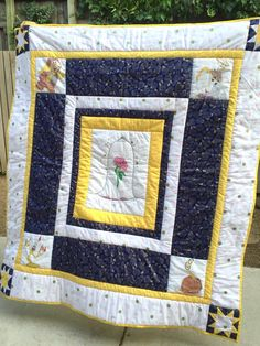 Beauty and the Beast quilt. Really simple with some fun blocks ...