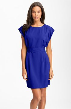 Eliza J Drape Sleeve Sash Belt Dress (Regular & Petite) available at #Nordstrom