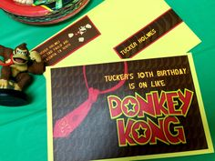 Donkey Kong Birthday Party Invite