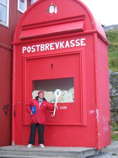 The world's largest post box, Nuuk, Greenland, by Nick Around The World, via… Nuuk Greenland, You've Got Mail, Post Box, Roadside Attractions, World's Biggest, Mailbox, Worlds Largest, North America, Sculptures