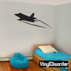 Jet Wall Decal - Vinyl Decal - Car Decal - Mvd004