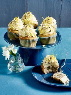 Schnelle Zitronen Mohn-Cupcakes