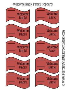 #Freebie Welcome Back Pencil Toppers!  Tuesday Teacher Tips: Pencil Management #FREE