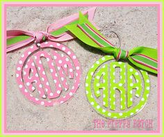 Monogrammed Personalized Polka Dot Pattern Clear by thepreppypatch, $12.00