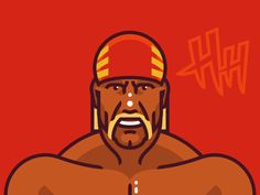 Hulk Hogan designed by Fraser Davidson. the global community for designers and creative professionals. Iron Man Face, Wrestling Games, How Big Is Baby, Big Baby, Wrestling Superstars, Hulk Hogan, Incredible Hulk, Old School, Wwe