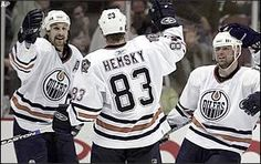 Smyth and Hemsky in better days. E 3, Edmonton Oilers, Athletes, Sports, Tops, Sport, Shell Tops