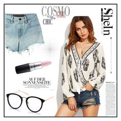 """""""Shein"""" by miranda-993 ❤ liked on Polyvore featuring T By Alexander Wang and MAC Cosmetics"""