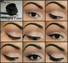 How To: Winged Liner Tutorial (best eyeliner tutorial) Red Eyeliner, Winged Eyeliner Tutorial, Simple Eyeliner, Perfect Eyeliner, Eyeliner Looks, No Eyeliner Makeup, Winged Liner, Eyeliner Ideas, Perfect Eyes