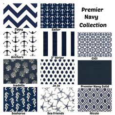 Premier navy blue and white pillow covers in your choice of size and pattern. Purchase one or mix and match several fabrics to get the look Light Navy Blue, Navy And White, White Pillow Covers, Cushion Covers, Blue And White Pillows, Nautical Home, Florida Home, Decorative Throw Pillows, Lake Life