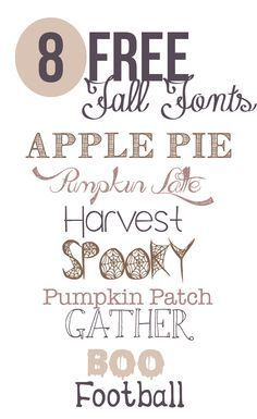 The best free fonts for fall to use for fall projects, designs, and decor. #freefonts #typography #fall