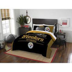 The Northwest Company NFL Pittsburgh Steelers Draft Full/Queen 3-piece Comforter Set | Overstock.com Shopping - The Best Deals on Teen Comforter Sets