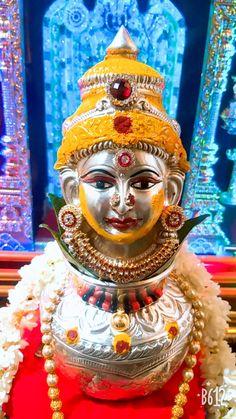 Laxmi devi Diy Diwali Decorations, Home Wedding Decorations, Festival Decorations, Flower Decorations, Housewarming Decorations, Kalash Decoration, Mandir Decoration, Ganapati Decoration, Silver Pooja Items