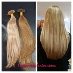 """Highlight, lenghth and fullness created using 16"""" Straight Brazilian Extensions"""