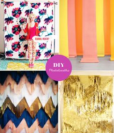 DIY Photo booth Backdrops