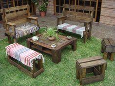 Build a Pallet Patio Furniture Set | Pallet Furniture
