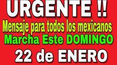 VAMOS A DERROCAR A este mal gobierno de Peña Nieto- MEGA MARCHA 22 DE EN...