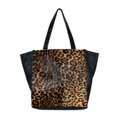 "49 square miles. ""Maven"". Black tote with exotic printed. Italian."