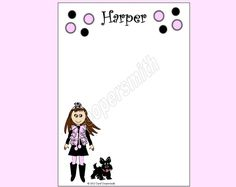 Girl and Scottie Notepad - Personalized Brunette,Blonde,Blk Hair, Auburn, African Amer, Hispanic-FREE ShippingWhen You BuyAny 4or More Pads