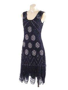 """1920s Reproduction Beaded Black """"Sheba"""" Flapper Dress (via Blue Velvet Vintage)"""
