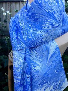 Hand Marbled China Silk Hand Sewn Reversible by vansantdesigns, $40.00