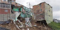 27 viviendas resultaron afectadas por un deslizamiento de tierra que se presentó en el barrio San Blas, en el sur de Bogotá.