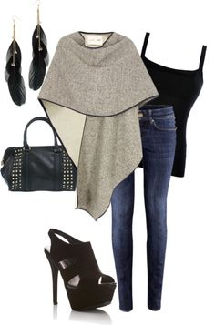 """""""Cape it"""" by mtoomey ❤ liked on Polyvore"""
