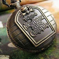 Jack Skellington The Nightmare Before Christmas Vintage Pocket Watch Necklace. $5.99, via Etsy.
