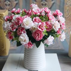 43 best artificial flowers rose images on pinterest art flowers buy 15 heads silk flowers bouquet artificial rose wedding floral decor plant at wish shopping made fun mightylinksfo