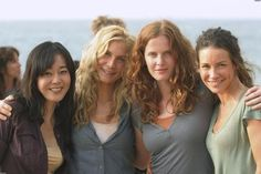 Yunjin, Elizabeth, Rebecca and Evangeline Bts Lost, Lost Tv Show, Elizabeth Mitchell, Matthew Fox, Wizards Of Waverly Place, Boy Meets World, Film Base, Lizzie Mcguire, Lost Girl