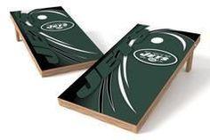 New York Jets Single Cornhole Board - Spiral