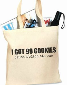 SALE - Funny Quote - Canvas Tote Bag 16x 15 inches - with 2 loop handles. $10.00, via Etsy.