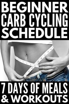 7-Day Carb Cycling Diet Workout Plan for Beginners | If you're looking for a sample menu to help you get started with the carb cycling diet to help you burn fat and build lean muscle, and want to know exactly which kinds of workouts to do on your low carb and high carb days to maintain proper fitness for your energy levels, this 7-day carb cycling menu and workout schedule is your ticket to weight loss that lasts! #carbcycling #lowcarbworkout #hiitcardio #fatburn Quick Weight Loss Tips, Fast Weight Loss, Weight Loss Program, How To Lose Weight Fast, Losing Weight, Weight Gain, Reduce Weight, Fat Fast, Carb Cycling Meal Plan
