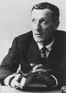 Maurice Merleau-Ponty - a French phenomenological philosopher, strongly influenced by Edmund Husserl and Martin Heidegger. The constitution of meaning in human experience was his main interest and he wrote on perception, art and politics