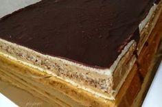 Prajitura Nadia cu nuci coapte si crema de nes Romanian Desserts, Romanian Food, Romanian Recipes, Copycat Recipes, Cake Cookies, Chocolate, Cookie Recipes, Cheesecakes, Caramel