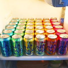 LaCroix brings out organizational skills you never knew you had. | 21 Things Everyone Obsessed With LaCroix Knows To Be True