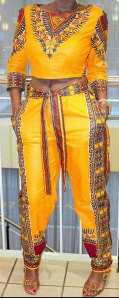 african print dashiki suit/dashiki pants by TMFashionaccessories