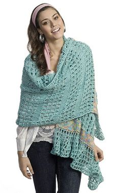 Tunisian Shawl By Marty Miller - free on ravelry