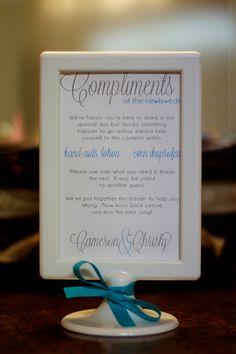 Bathroom Basket Sign for wedding