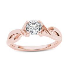 Jewelry & Watches Amiable 2ct Round Cut Diamond Engagement Ring 14k Rosegold Finish Vintage Floral Promise