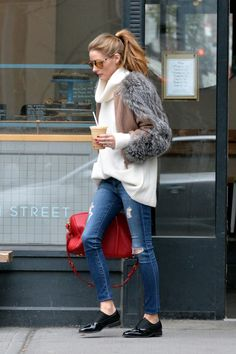 Olivia Palermo Shows How to Style the Season's Most Popular Sweater